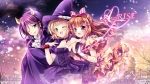 Konachan.com - 189957 breasts byruu cleavage dress halloween hat horns kira_tsubasa love_live!_school_idol_project toudou_erena wink witch yuuki_anju