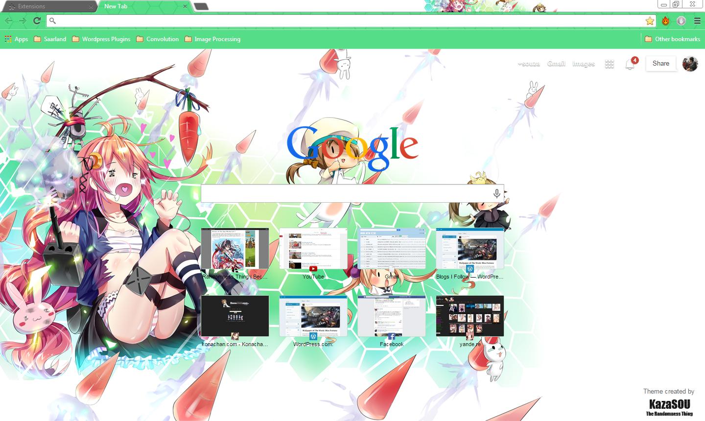Google chrome theme green - Skin Name Uzuki 2