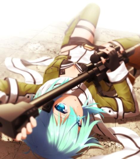 yande.re 298761 gun haribote sinon sword_art_online thighhighs