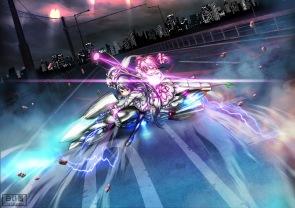 Konachan.com - 164632 akemi_homura akira fate_stay_night fate_zero kaname_madoka kyuubee mahou_shoujo_madoka_magica motorcycle parody shiroi_karasu
