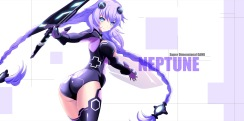 Konachan.com - 182626 ass blue_eyes bodysuit hyperdimension_neptunia jpeg_artifacts long_hair maccyon purple_hair purple_heart twintails
