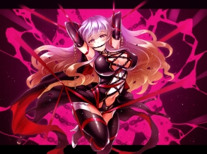 Konachan.com - 187257 bondage chain collar cross hijiri_byakuren long_hair touhou touya_(the-moon)
