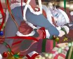 Konachan.com - 151524 blue_eyes christmas izayoi_sakuya kumonji_aruto panties pantyhose santa_costume touhou underwear