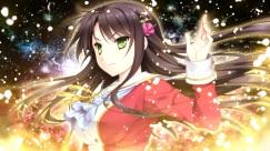 Konachan.com - 181913 akatsuki-works black_hair game_cg green_eyes hello_lady long_hair otonashi_saku saeki_hokuto seifuku