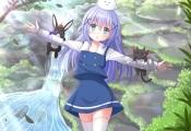 Konachan.com - 182962 gochuumon_wa_usagi_desu_ka- kafuu_chino kazenokaze loli nichijou sakamoto_(nichijou) thighhighs