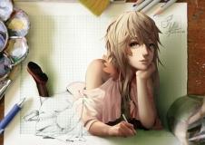 Konachan.com - 183124 blonde_hair gray_eyes lepus long_hair original signed