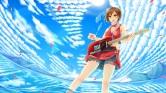 Konachan.com - 184045 clouds guitar instrument meiko sakakidani sky vocaloid water