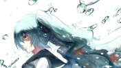 Konachan.com - 186324 aqua_eyes blue_hair bottle_miku hatsune_miku phino_(jinko0094) vocaloid water