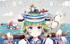 Konachan.com - 187437 blue_eyes goggles green_hair gumi nou short_hair vocaloid water