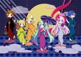 Konachan.com - 173163 fan hatsune_miku japanese_clothes kagamine_len kagamine_rin kaito kimono long_hair maako megurine_luka meiko short_hair twintails umbrella vocalo