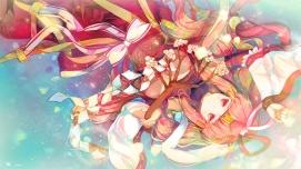 Konachan.com - 183648 chiyome_(p&d) heco_(mama) japanese_clothes miko puzzle_&_dragons