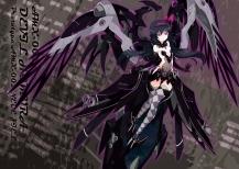 Konachan.com - 185906 akemi_homura akuma_homura black_hair crossover elbow_gloves headband long_hair mechagirl wings