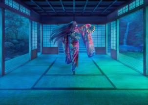 Konachan.com - 186081 erhu fan japanese_clothes kimono original
