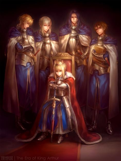 yande.re 308487 armor bedivere_(fsn) berserker_(fate_zero) fate_extra fate_stay_night fate_zero gawain_(fsn) kanmuri lancelot_(fsn) saber sword tagme