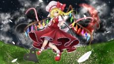 Konachan.com - 179603 blonde_hair bow flandre_scarlet hat red_eyes short_hair tagme_(artist) touhou wings