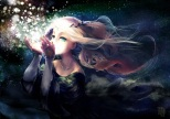 Konachan.com - 183442 blonde_hair dress original stars yukino_neko