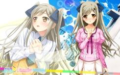 Konachan.com - 183489 asa_project blush brown_hair hitotsu_tobashi_ren'ai long_hair panta tamamori_sakura