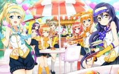 Konachan.com - 183584 ayase_eri food hat hoshizora_rin karamoneeze koizumi_hanayo kousaka_honoka minami_kotori nishikino_maki sonoda_umi toujou_nozomi yazawa_nico