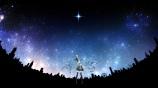 Konachan.com - 188743 hatsune_miku kururi_(oekaki_nikki) night sky stars vocaloid