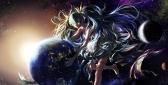 Konachan.com - 189727 aqua_hair barefoot blue_eyes dress earth hatsune_miku long_hair mossi planet space stars twintails vocaloid