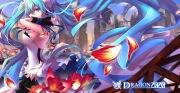 Konachan.com - 190166 7th_dragon_2020 aqua_eyes aqua_hair hatsune_miku litsvn long_hair petals skirt twintails vocaloid wristwear