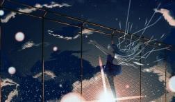 Konachan.com - 191411 aqua_hair clouds dress hatsune_miku hinata_(uzukitten) long_hair moon sky stars twintails vocaloid