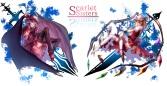 Konachan.com - 191560 2girls blonde_hair dress flandre_scarlet hat pantyhose purple_hair red_eyes remilia_scarlet short_hair touhou uu_uu_zan wings