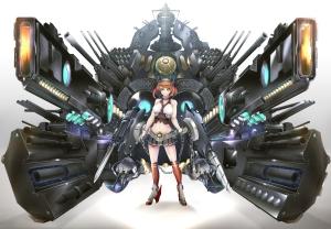 Konachan.com - 195157 big.g kantai_collection mechagirl mutsu_(kancolle) weapon