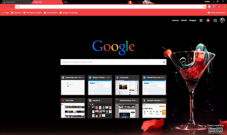Google themes today - Miku_chrome5
