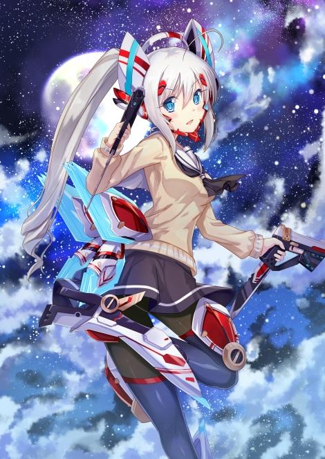 yande.re 312715 dance_of_eternity gun pantyhose seifuku tagme thighhighs weapon