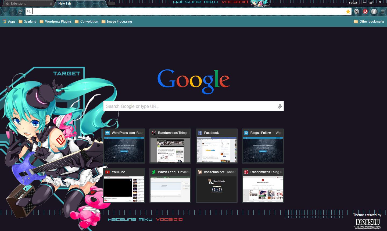 Google Chrome Theme: Hatsune Miku 17 | Randomness Thing