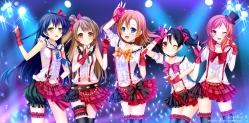 Konachan.com - 185105 grandia_(artist) kousaka_honoka love_live!_school_idol_project minami_kotori nishikino_maki skirt sonoda_umi thighhighs yazawa_nico