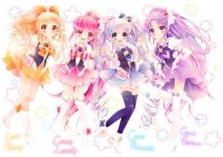 Konachan.com - 185834 aino_megumi cure_fortune cure_honey cure_lovely cure_princess happinesscharge_precure! hikawa_iona oomori_yuuko shirayuki_hime uzuki_aki