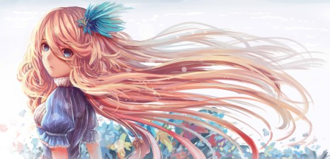 Konachan.com - 186263 blonde_hair blue_eyes dress flowers long_hair nio_(jacky19921205) original