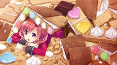 Konachan.com - 187039 baka_moe_heart_ni_ai_wo_komete! game_cg makoto_(artist) praline purple_eyes short_hair yamanaka_kurumi