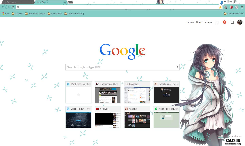 Gmail theme anime - Xia_yu_yao_chrome