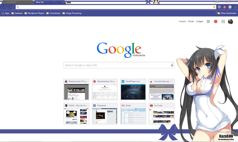 Gmail theme anime - Hestia_chrome