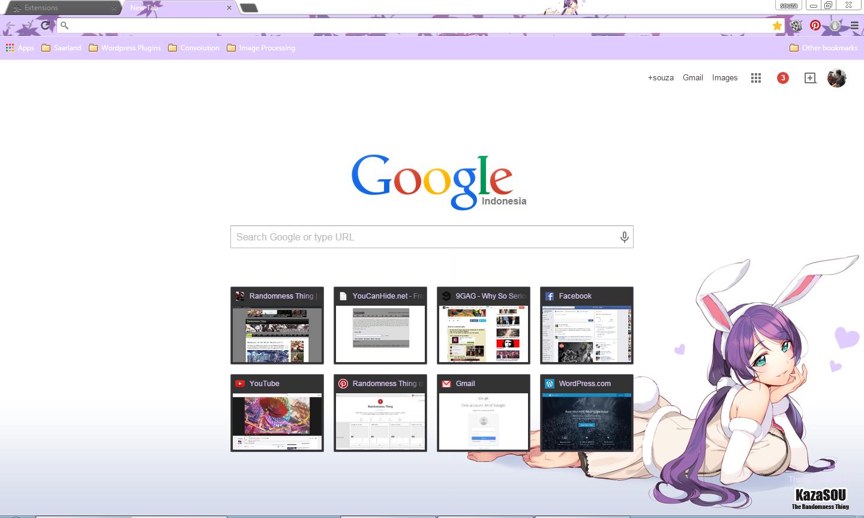 Google themes today - Toujou_nozomi_chrome2