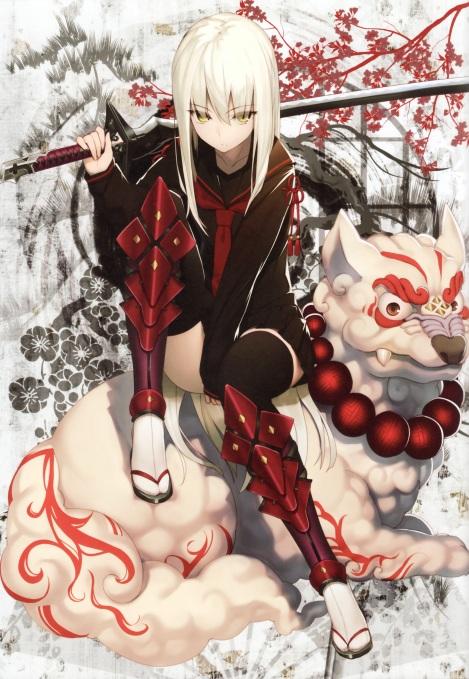 yande.re 316838 armor hiiragi_ryou izumi_sai seifuku sword thighhighs