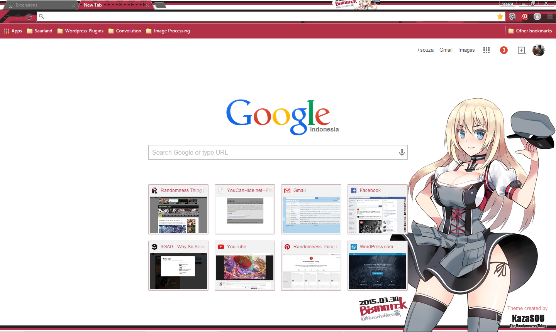 Gmail theme anime - Bismarck_chrome2