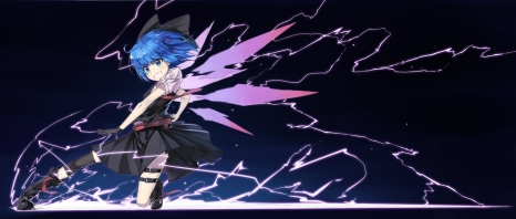 Konachan.com - 169545 blue_eyes blue_hair boots cirno fairy feng_ze gloves ribbons short_hair skirt touhou wings