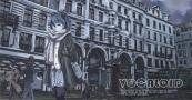 Konachan.com - 192999 building forte glasses hatsune_miku long_hair monochrome scarf skirt thighhighs vocaloid zettai_ryouiki