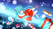 Konachan.com - 195098 christmas hat hatsune_miku santa_costume santa_hat vocaloid