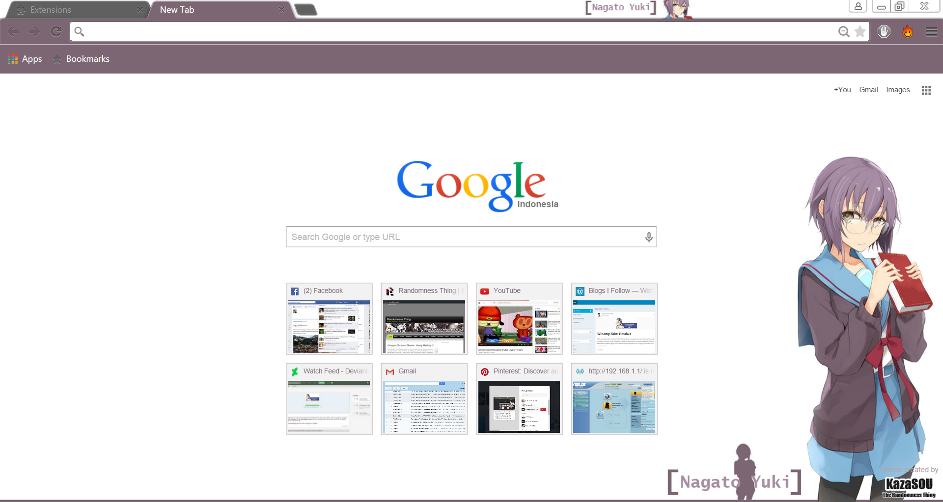 Gmail themes chrome - Nagato_yuki_chrome