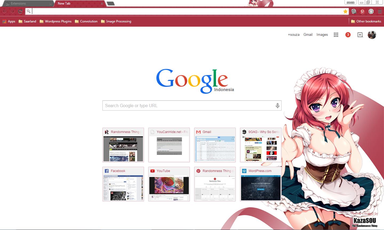 Google themes live - Nishikino_maki_chrome2