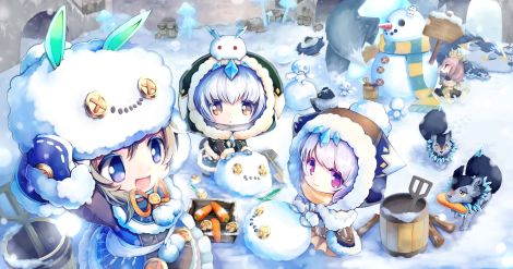 yande.re 317987 animal_ears bunny_ears chibi dress petite_chronicle_online tagme
