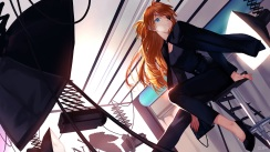 Konachan.com - 192116 blue_eyes brown_hair eyepatch joseph_lee long_hair neon_genesis_evangelion soryu_asuka_langley