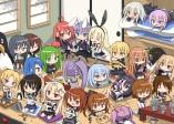 Konachan.com - 199961 cha_(kancolle) chibi fubuki_(kancolle) game_console group kantai_collection uzuki_(kancolle) yayoi_(kancolle)