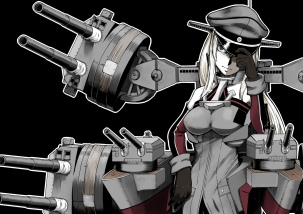 Konachan.com - 200221 bismarck_(kancolle) gun kantai_collection weapon