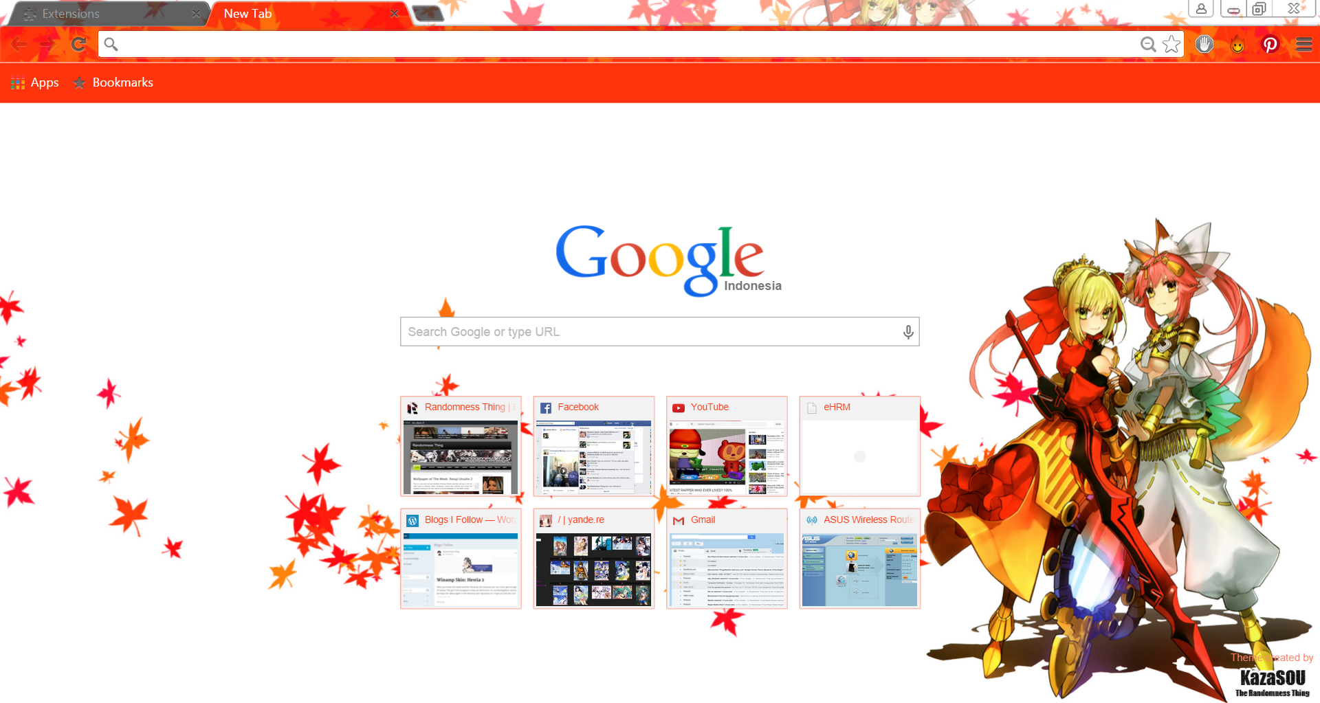 Google themes live - Saber_caster_chrome